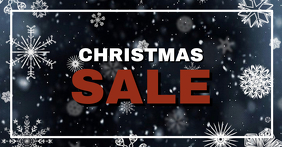 Christmas Sale Header Banner Snow Offer Shop