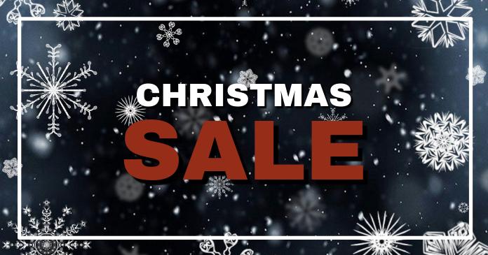 Christmas Sale Header Banner Snow Offer Shop