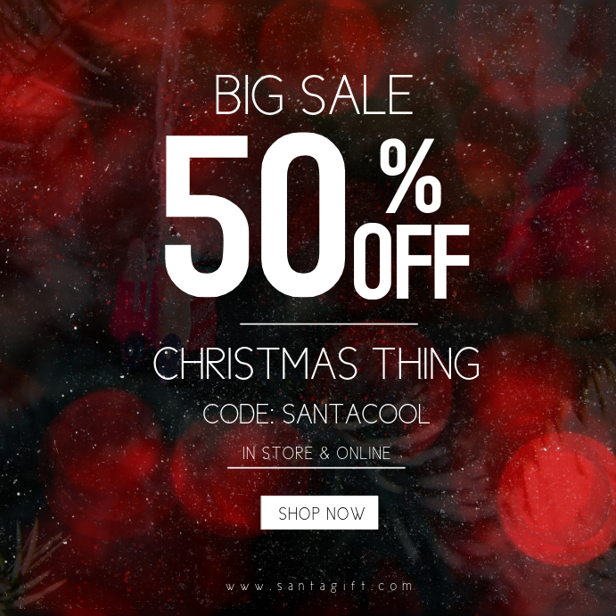 Christmas Sale Instagram Post Template