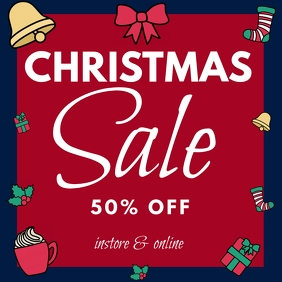 Christmas sale INSTAGRAM template