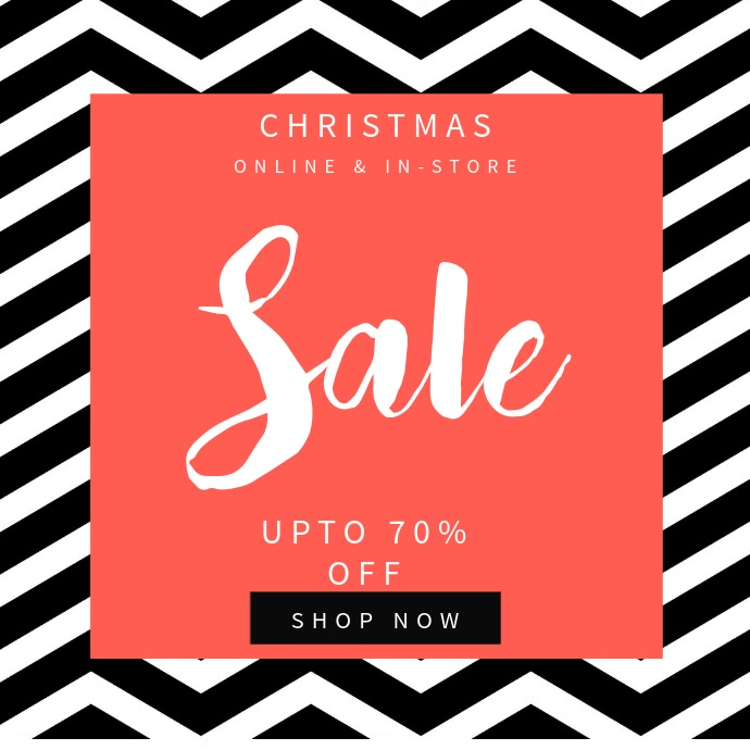 Christmas sale instagram video template Instagram-bericht