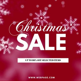 Christmas Sale instagram video Post template