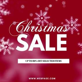 Christmas Sale instagram video Post template