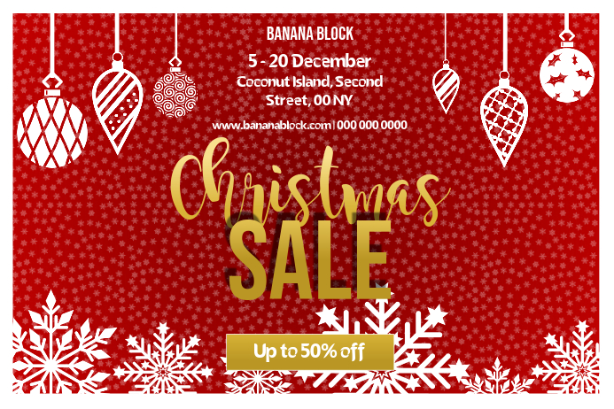 Christmas Sale Landscape Poster โปสเตอร์ template