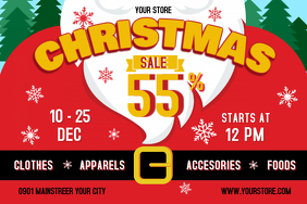 Christmas Sale Landscape Poster 海报 template