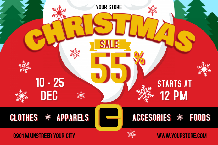 Christmas Sale Landscape Poster