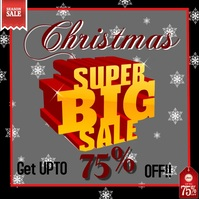 Christmas sale offer design templete video .