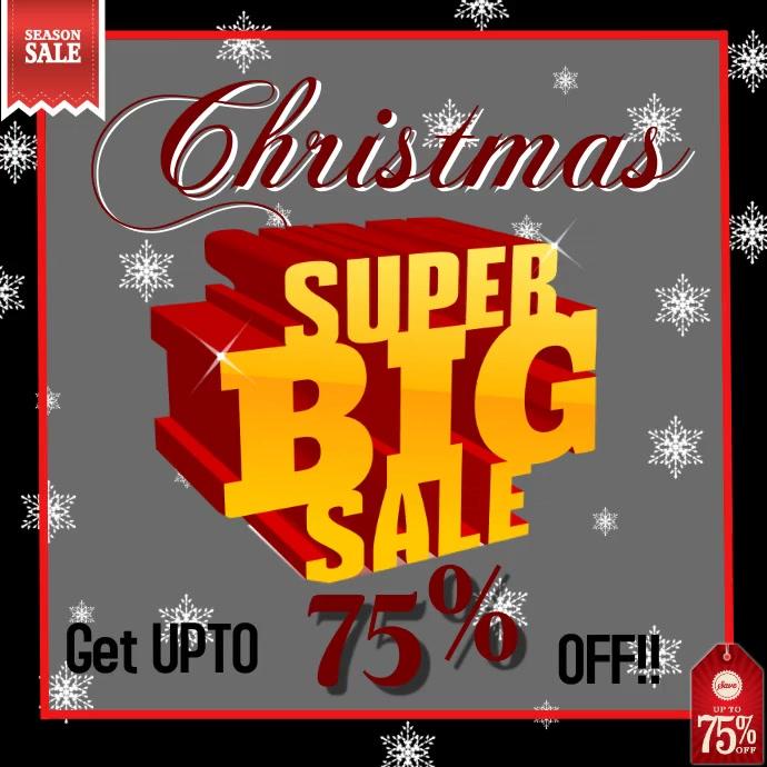 Christmas sale offer design templete video . Post Instagram template