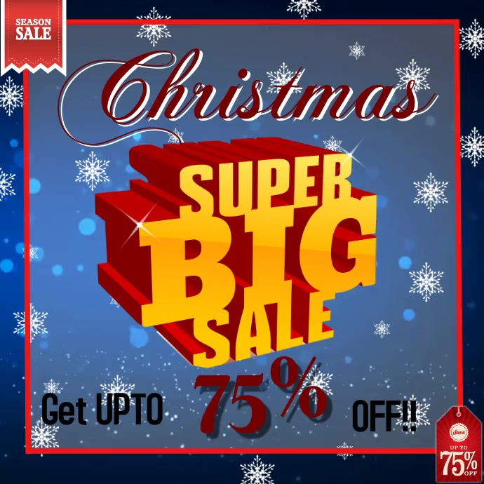 Christmas sale offer design templete video a Post Instagram template
