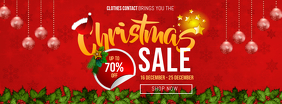 Christmas Sale Offer Facebook Cover