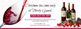 Christmas Sale on Drinks Special Offer Banner
