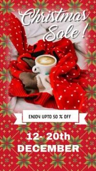 Christmas Sale Post История на Instagram template