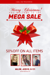 Christmas Sale Poster Template Plakat