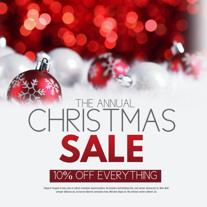 Christmas Retail Poster Templates  Postermywall