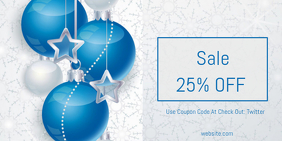 Christmas Sale Pos Twitter template