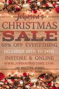 Christmas Sale Poster Template