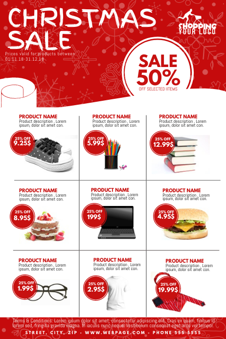 Christmas Sale Product catalogue Flyer Template