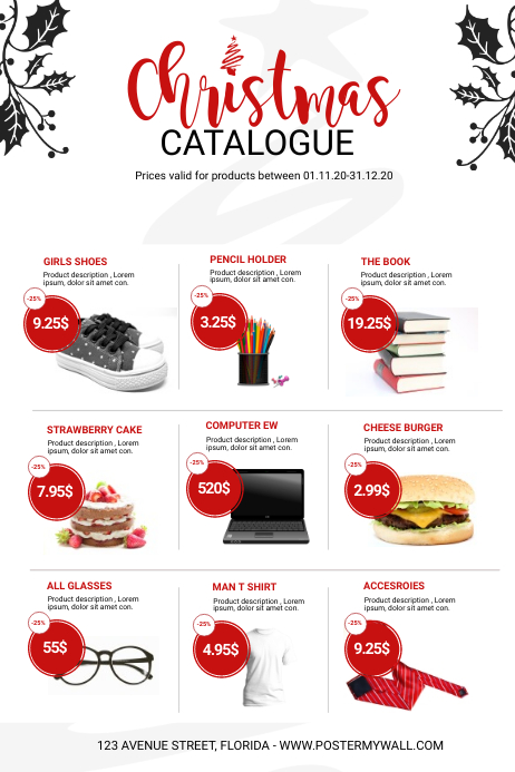 Christmas Sale Product Catalogue Template Postermywall