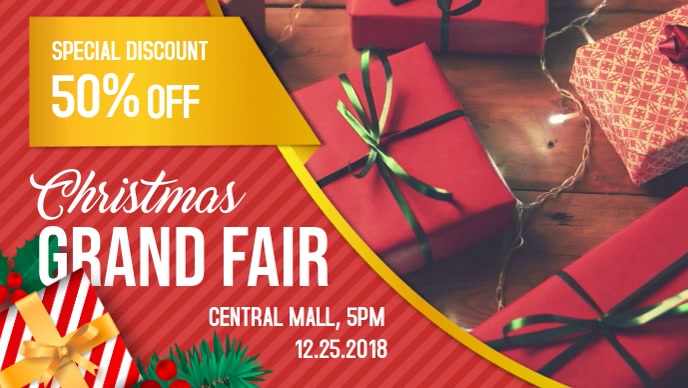 Christmas Sale Retail Advertisement Facebook Cover