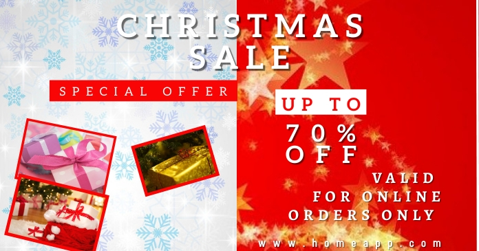 Christmas Sale Retail Facebook Shared Image template