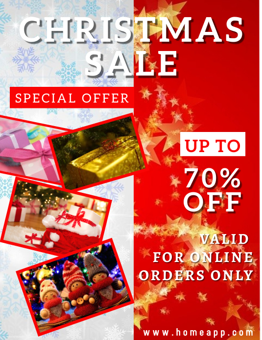 Christmas Sale Retail Flyer Volantino (US Letter) template