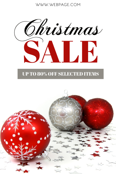 Christmas Sale Retail Flyer Template