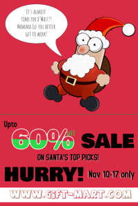 Christmas Sale Retail Poster