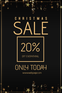 Christmas sale retail poster flyer template