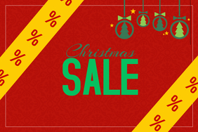 Christmas sale retail promotion flyer poster template