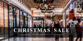 Christmas sale retail promotion twitter post template