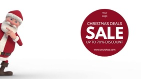 Christmas Sale Retail Shopping Advert Cover