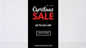 Christmas Sale Santa Shopping Cart Funny Ad