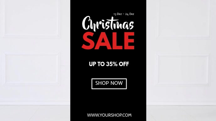 Christmas Sale Santa Shopping Cart Funny Ad