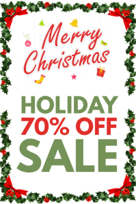Christmas sale shop front
