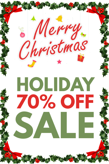 Christmas sale shop front Banner 4 x 6 fod template