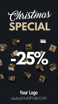Christmas Sale Special Price Off Discount % Historia de Instagram template