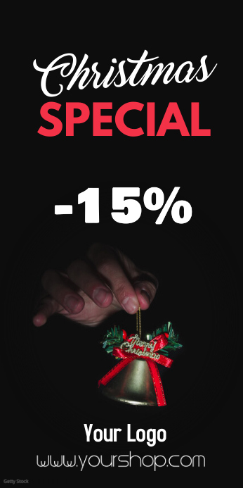 Christmas Sale Special Price Off Discount % 易拉宝 3' × 6' template