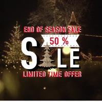Christmas Sale Square Banner Video Ad Cuadrado (1:1) template