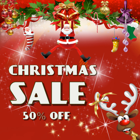 Christmas sale Square poster