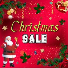 Christmas sale Square poster video
