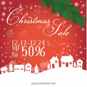 Christmas Sale Template Ad Square Retail Shop