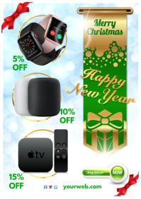 Christmas Sale Template A4