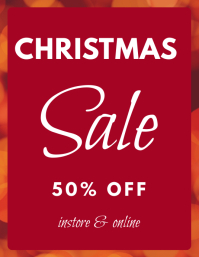 Christmas sale template