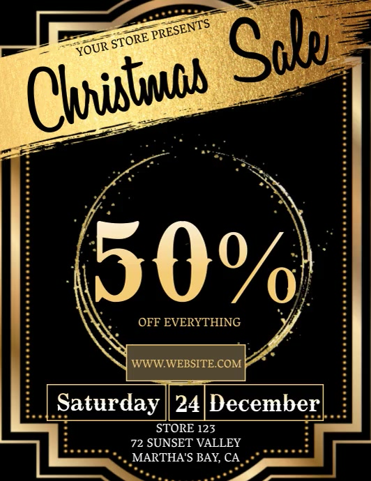 Christmas SALE TEMPLATE DIGITAL Volante (Carta US)
