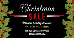 Christmas sale template facebook photo