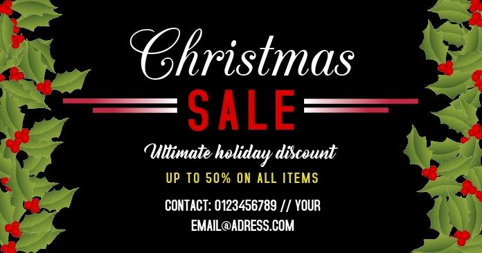 Christmas sale template facebook photo