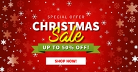 Christmas Sale Up to 50% Off Facebook Shared Image template