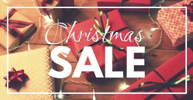 Christmas Sale Video Cover Header Gifts Light