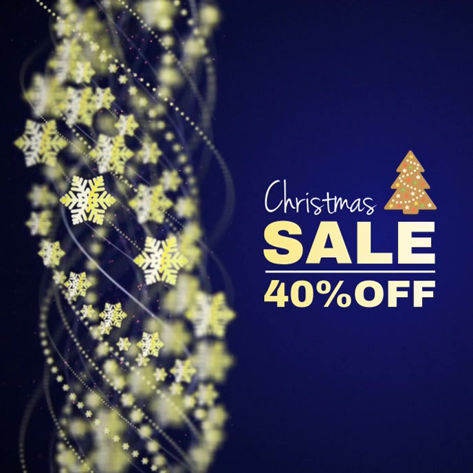 Christmas Sale Video Albumcover template