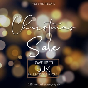 Christmas Sale Video Event Flyer Template
